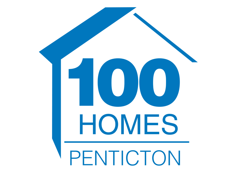 100 Homes Penticton logo, United Way