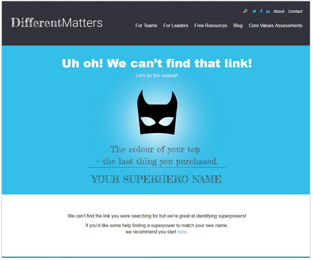 DifferentMatters 404 page