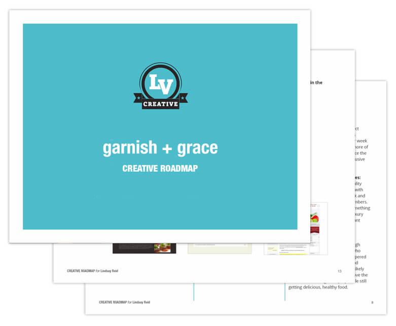 garnish + grace Creative Roadmap
