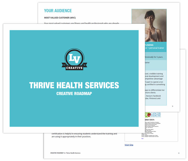 Thrive Health Services Creative Roadmap